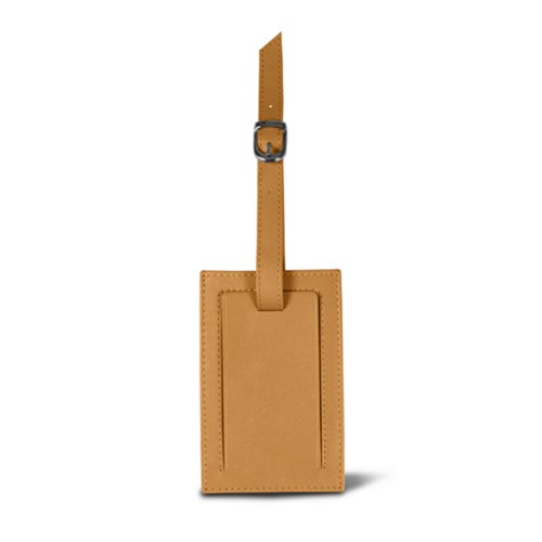 Luggage tag - Natural - Smooth Leather