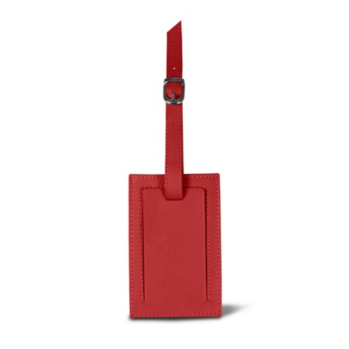 Luggage tag - Red - Smooth Leather