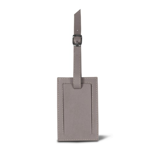 Luggage tag - Light Taupe - Smooth Leather