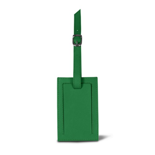 Bag Tag - Light Green - Smooth Leather