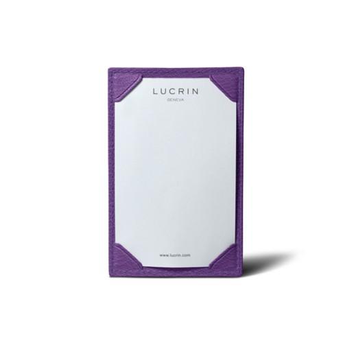 Small writing pad (11 x 7 cm) - Purple - Goat Leather