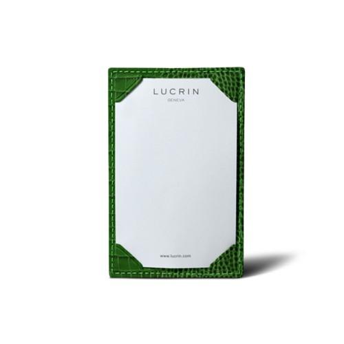Small Writing Pad (11 x 7 cm) - Light Green - Crocodile style calfskin