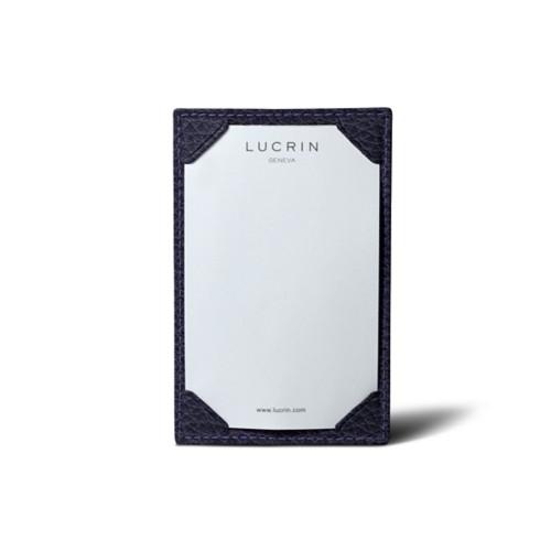Libreta de bolsillo (11 cm x 7 cm) - Violeta - Piel Grano