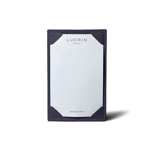 Libreta de bolsillo (11 cm x 7 cm) - Violeta - Piel Liso