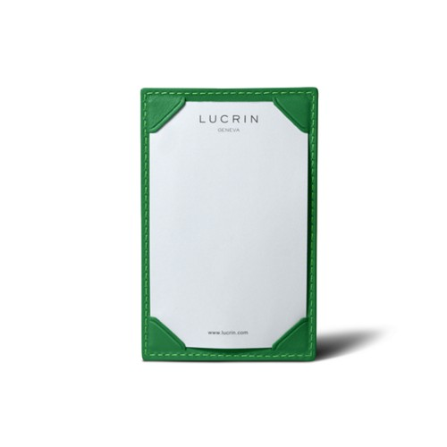 Small Writing Pad (11 x 7 cm) - Light Green - Smooth Leather