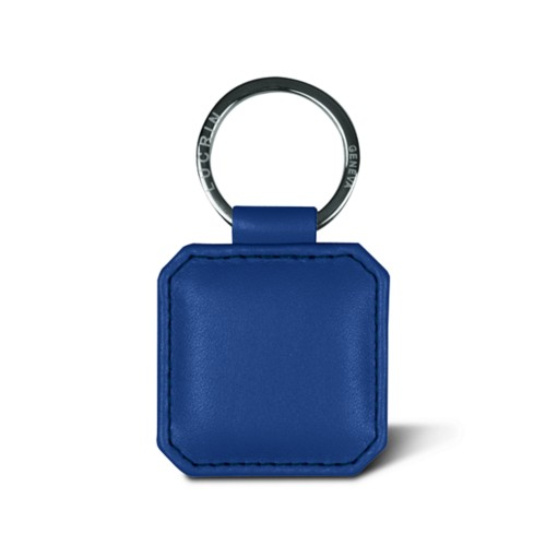 Squared keyring with dented corners