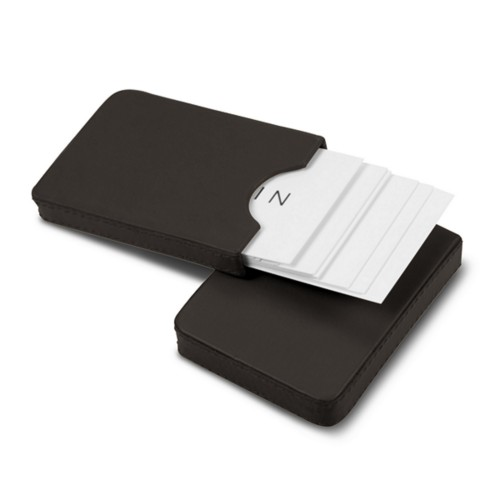 Sliding case for business cards