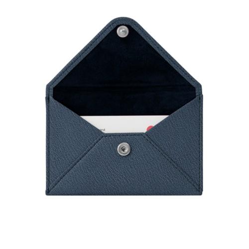Kreditkartentasche - Königsblau -Weinrot - Ziegenleder