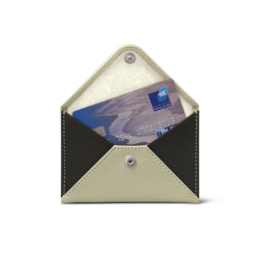 Flat card bicolour holder