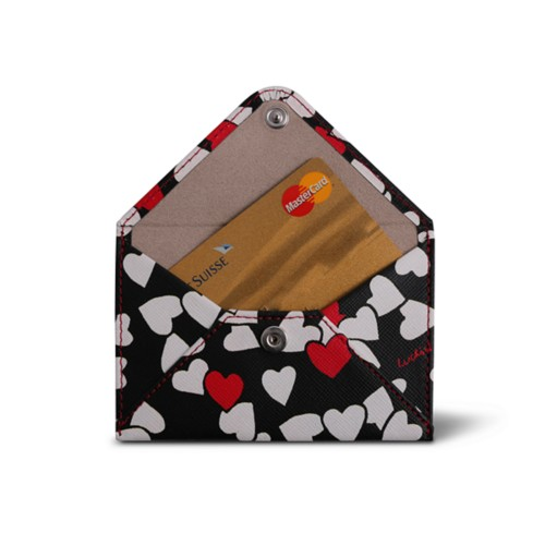 Flat card holder - Heart - Safiano