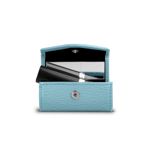 Lipstick holder - Sky Blue - Goat Leather