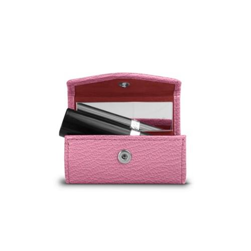 Lipstick holder - Pink - Goat Leather