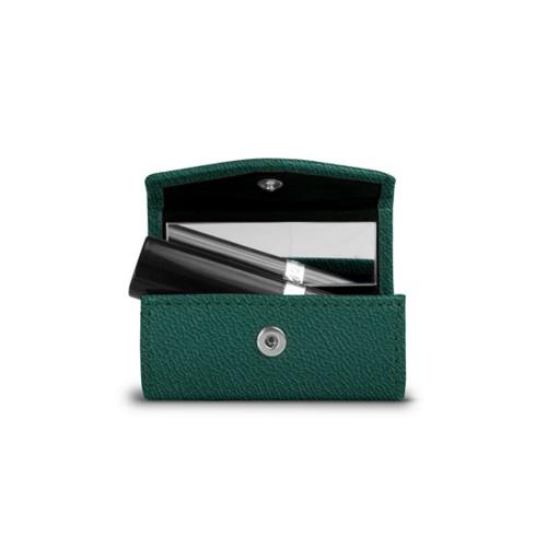 Lipstick holder - Dark Green - Goat Leather