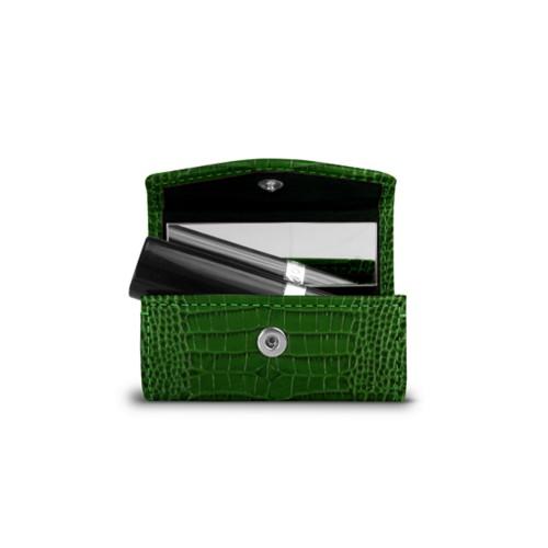 Lipstick Holder - Light Green - Crocodile style calfskin