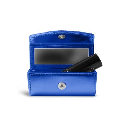Lipstick holder - Royal Blue - Metallic Leather