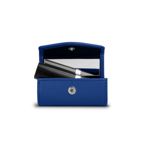 Lipstick holder - Royal Blue - Smooth Leather