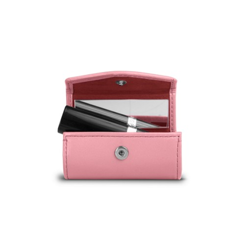Lipstick holder - Pink - Smooth Leather