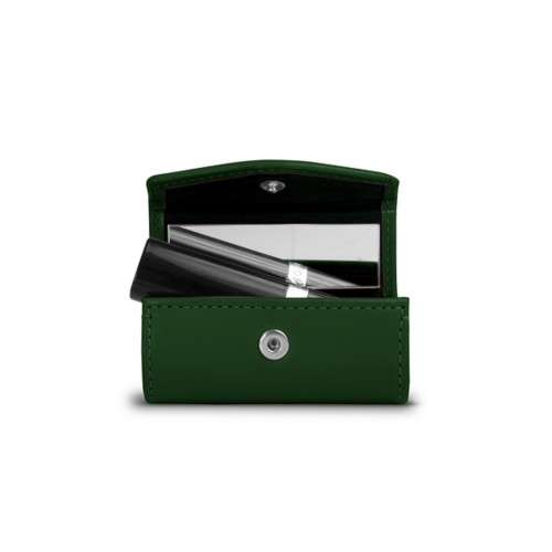 Lipstick holder - Dark Green - Smooth Leather
