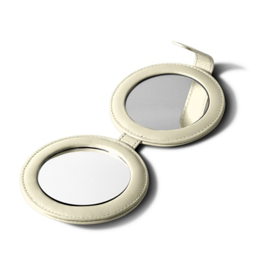Round dual mirror - Off-White - Smooth Leather