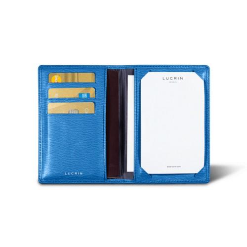 Luxury pocket note pad - Royal Blue - Goat Leather
