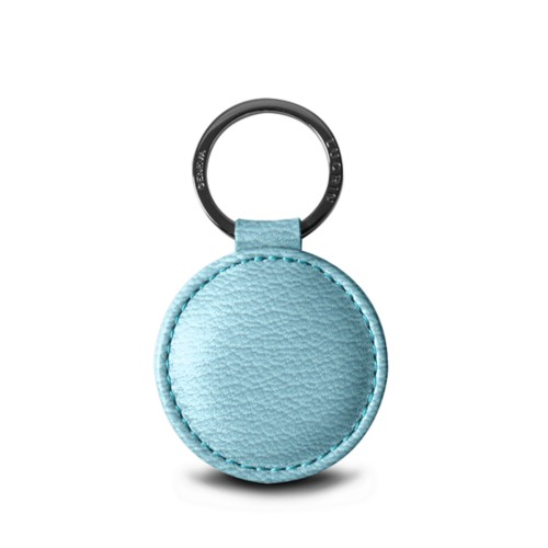 Round Key Ring (2 inches) - Sky Blue - Goat Leather