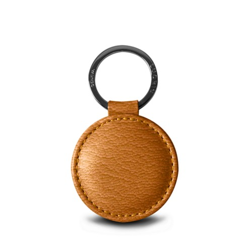 Round Key Ring (2 inches) - Saffron - Goat Leather