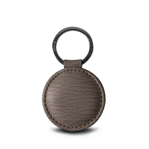 Round key ring (5 cm) - Dark Taupe - Goat Leather
