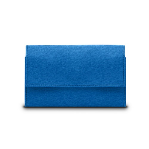 Compact wallet - Royal Blue - Goat Leather