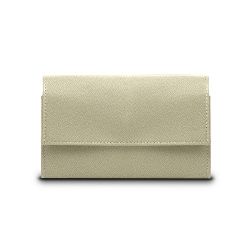 Compact wallet - Off-White-Mouse-Grey - Goat Leather