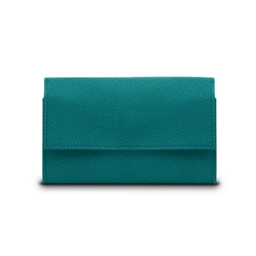 Compact wallet - Sea Green - Goat Leather