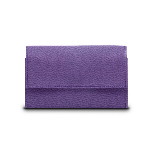 Compact wallet - Lavender - Granulated Leather