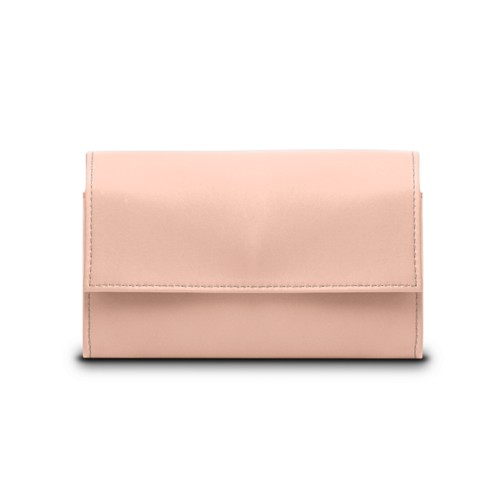 Compact wallet - Nude - Smooth Leather