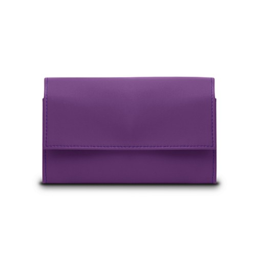 Compact wallet - Lavender - Smooth Leather