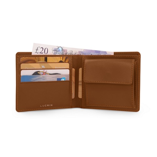 Wallet for men - Tan - Smooth Leather