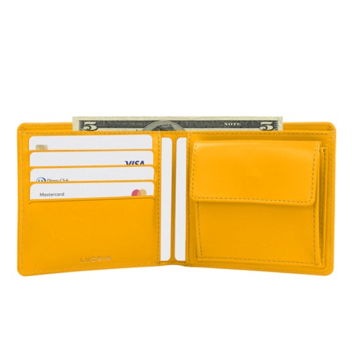 Wallet for men - Sun Yellow - Smooth Leather