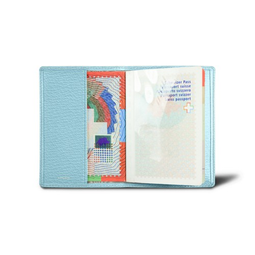 Universal passport cover - Sky Blue - Goat Leather
