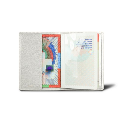 Universal passport cover - White - Goat Leather