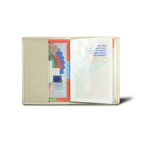 Universal passport cover - Off-White - Goat Leather