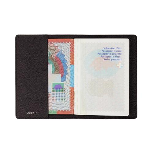 Universal passport cover - Dark Brown - Goat Leather