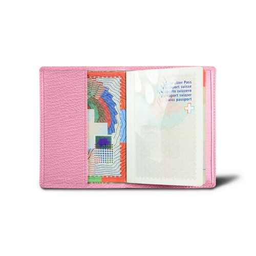 Universal Passport Cover - Pink - Goat Leather