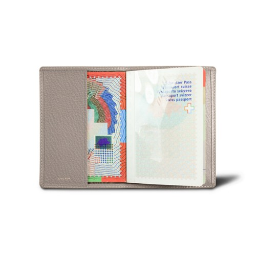 Universal passport cover - Light Taupe - Goat Leather