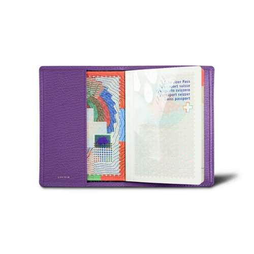 Universal passport cover - Purple - Goat Leather