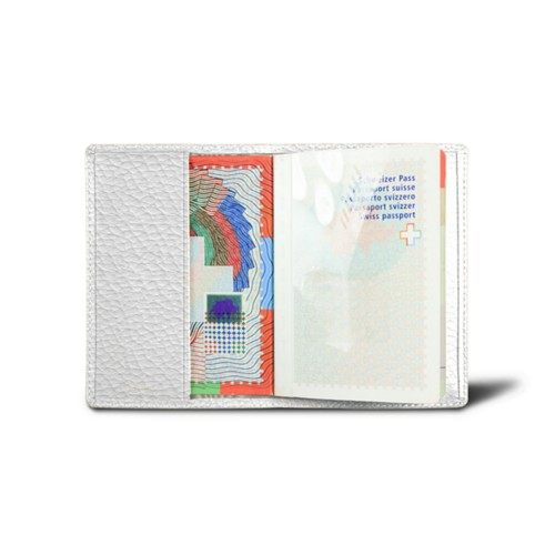 Universal passport cover - White - Granulated Leather