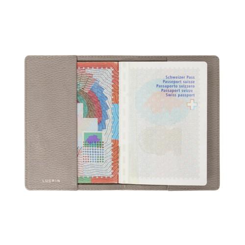 Housse universelle pour passeport - Taupe Clair - Cuir Grainé