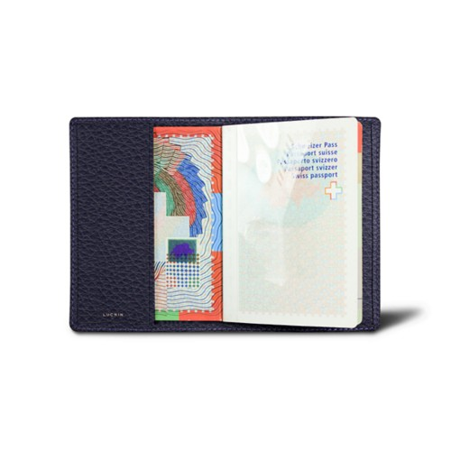 Universal passport cover - Purple - Granulated Leather