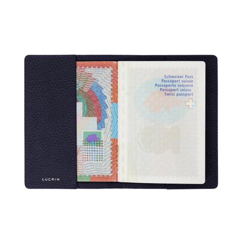 Universal passport cover - Purple - Granulated Leather