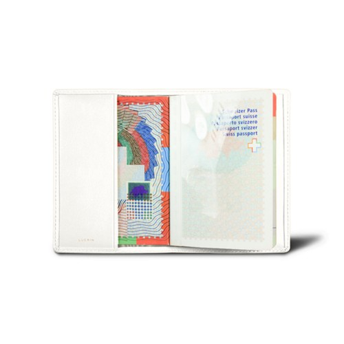 Universal passport cover - White - Smooth Leather