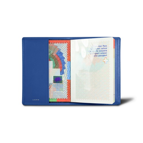 Universal passport cover - Royal Blue - Smooth Leather