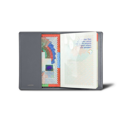Universal passport cover - Mouse-Grey - Smooth Leather