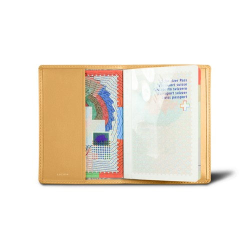 Universal Passport Cover - Yellow - Smooth Leather